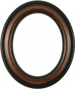 Laurel Walnut Oval Picture Frame