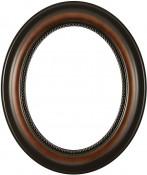 Laurel Walnut Oval Picture Frame