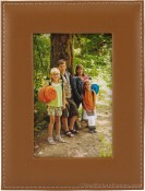 Stitched Camel Leather Picture Frame