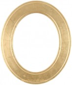 Bianca Gold Leaf Oval Picture Frame