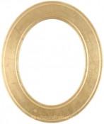 Bianca Gold Leaf Oval Picture Frame