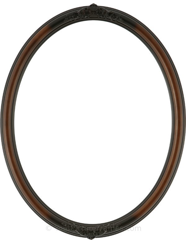 nora ornate rosewood oval picture frame