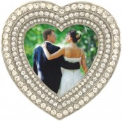 Heart Diamond Jeweled Picture Frame