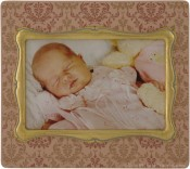 Peach Damask Decorative Picture Frame