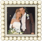 South Sea Square White Pearl Picture Frame