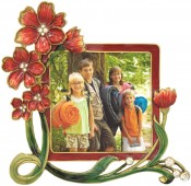 Outrageous Red Flower Picture Frame