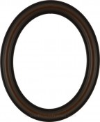 Rissa Walnut Oval Picture Frame