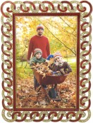Handcuffs Red Jeweled Picture Frame
