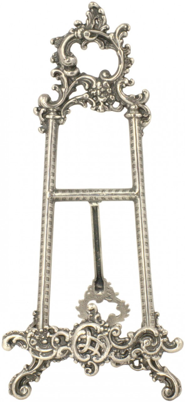 Small Medium Antique Silver Victorian Picture Frame Stand