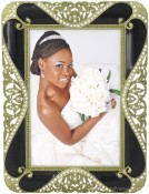 Black Jeweled Ornate Picture Frame