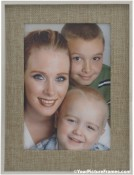 Natural Linen Mat in Metal Frame
