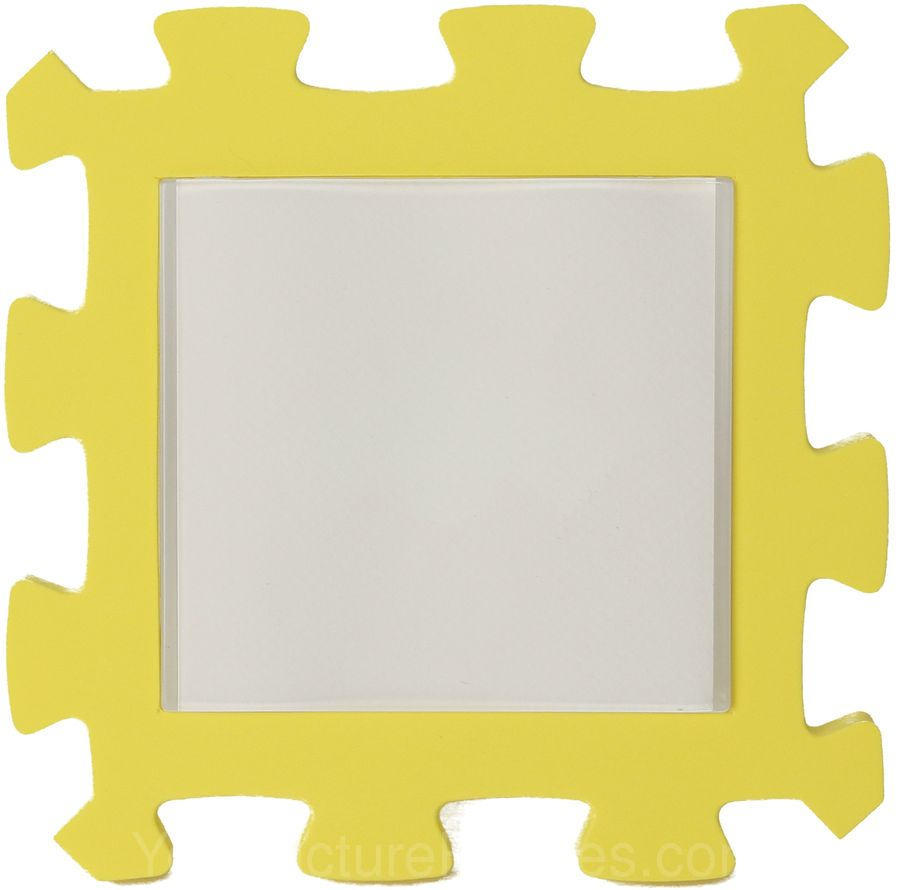 Yellow Kids Foam Picture Frame