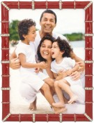 Red Bamboo Jeweled Picture Frame
