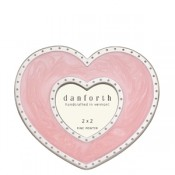Pink Heart Frame in Solid Pewter