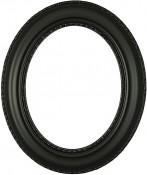 Stella Matte Black Oval Picture Frame