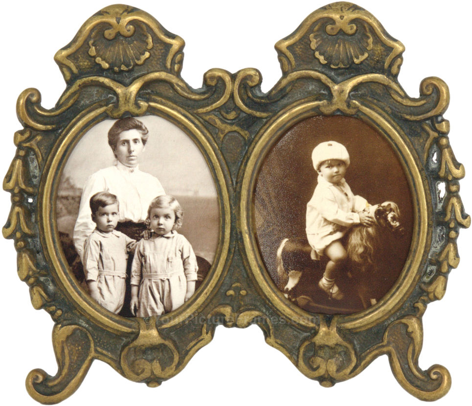 Vintage double oval picture frame image 1 jeuxipadfo Image collections
