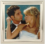 Silver Bead Square Picture Frame