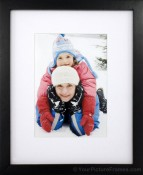 Shasta Rubberwood Matted Black Picture Frame