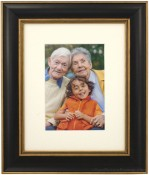 Tuscan Black Archival Matted Picture Frame