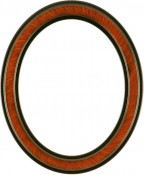Marna Vintage Walnut Oval Picture Frame with Gold Lip