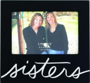Sisters Family Picture Frame in Black