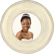 Montmartre White Round Picture Frame