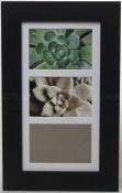 Metro Black Matted Triple Picture Frame