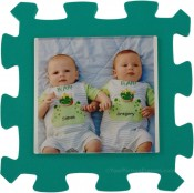 Teal Green Kids Foam Picture Frame