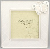 White Butterfly Baby Picture Frame