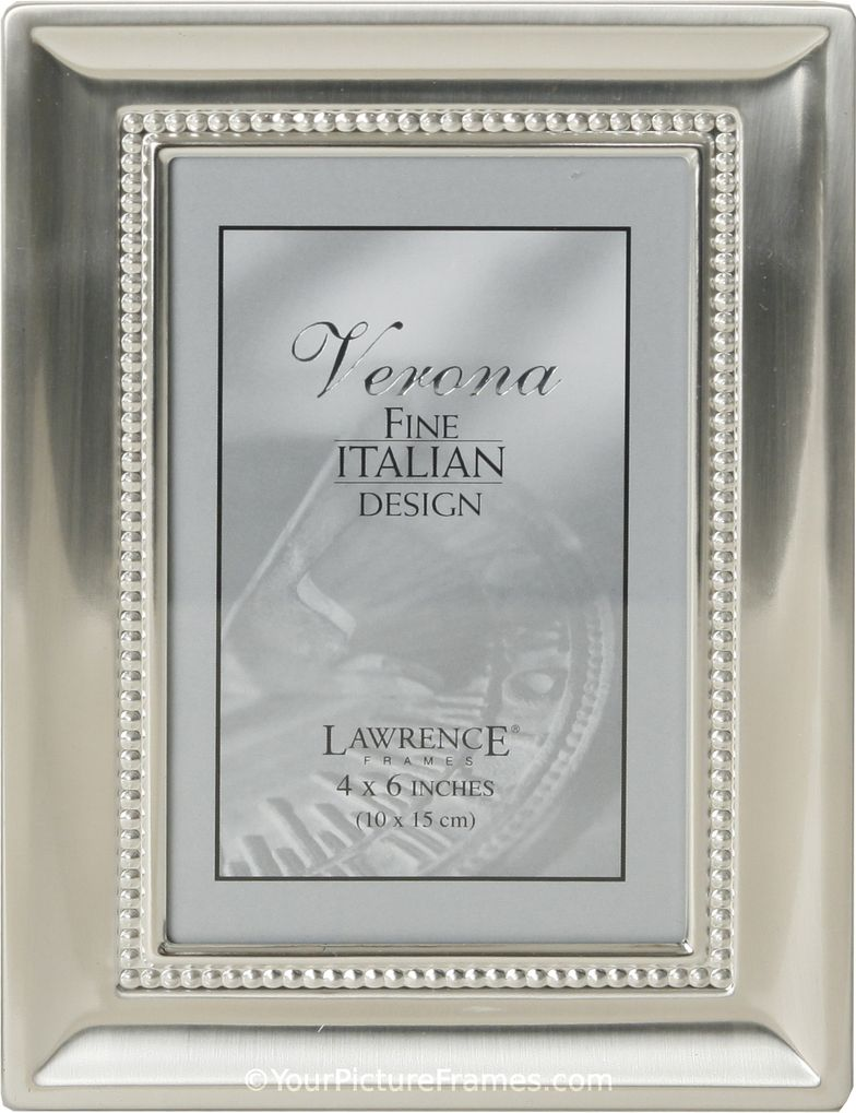 Brushed Satin Silver Bead Picture Frame