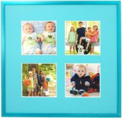 Turquoise Blue Collage Picture Frame