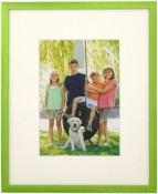 Cyber Green Picture Frame with Mat