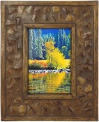 Coconut Shell Rustic Picture Frame