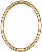 Sadie Gold Leaf Oval Picture Frame