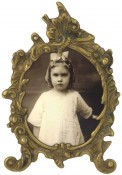 Weathered Antique Brass Oval Picture Frame
