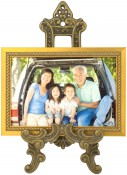 Medium Antique Brass Picture Frame Stand