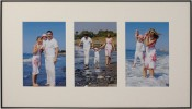 Fineline Black Matted Triple Picture Frame