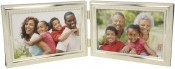 Silver Bead Horizontal Double Picture Frame
