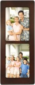 Contemporary Walnut Double Picture Frame