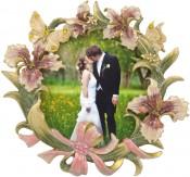 Flower Garden Round Picture Frame