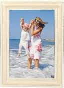 Yvonne White Metal Picture Frame