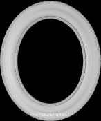 Stella Linen White Oval Picture Frame