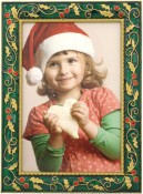 Green Holly Holiday Picture Frame