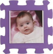 Purple Kids Foam Picture Frame