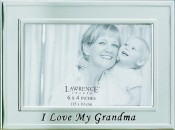 Brushed Silver I Love My Grandma Picture Frame