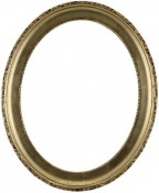 Trina Gold Leaf Oval Picture Frame