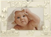 Decorative Silver Baby Picture Frame