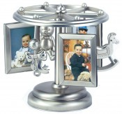 Frame Go Round Silver Musical Picture Frame