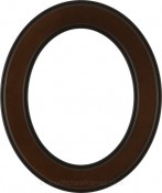 Bianca Walnut Oval Picture Frame