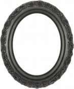 Mia Black Silver Oval Picture Frame